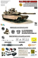 T-MODEL TK-7310 M1A2 SEP 1/72 M1A2 tust1+ фигурка+мет.ствол+коробки