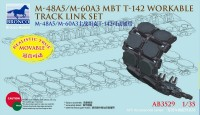 AB3529 1/35 M-48A5/M-60A3 MBT T-142 Workable Track Link Set