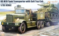 63502 1/35 U.S. M19 Tank Transporter with Soft Top Cab