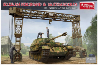 35A030  1/35 SD.Kfz.184 Ferdinand & 16t Strabokran Full Interior/Clear Roof Parts  (Мет.ствол)