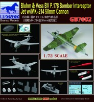 GB7002 1/72  BV P178 Bomber Interceptor Jet w/MK-214 50mm Cannon