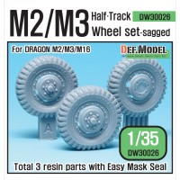 DW30026 WW2 U.S M2/M3 Halftrack Front Sagged Wheel set (for Dragon 1/35)