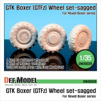 DW35028 GTK Boxer (GTFz) Sagged Wheel set (for Revell 1/35)