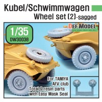 DW30038 WW2 German Wagen Wheel set 2(for Tamiya, AFVclub1/35) - Redisigned DW30003