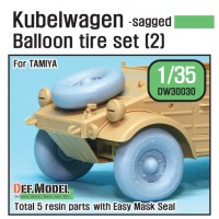DW30030 WW2 German VW Desert type Wheel set 2 (for Tamiya 1/35)