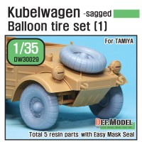 DW30029 WW2 German VW Desert type Wheel set 1 (for Tamiya 1/35)