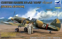 FB4009 1/48 Самолёт Curtiss Hawk 81-A2 AVG +3 фигурки