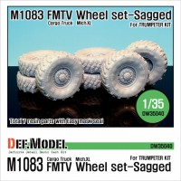 DW35040 US M1083 FMTV Truck Mich.XL Sagged Wheel set (for Trumpeter 1/35)