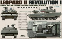 4629 1/35 German Main Battle Tank Revolution I Leopard II Tiger Model -