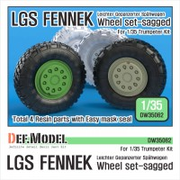 DW35062 German LGS Fenneck Sagged Wheel set (for Trumpeter 1/35)
