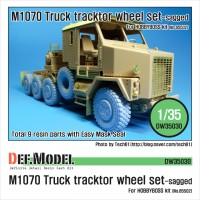 DW35030 M1070 Truck Tractor Sagged wheel set (for Hobbyboss 1/35)