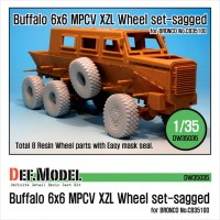 DW35035 Buffalo 6x6 MPCV Mich. XZL Sagged Wheel set(for Bronco 1/35)