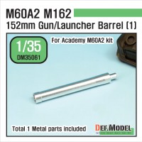 DM35061 US M60A2 M162 Metal Gun Barrel 1 (for Academy 1/35)
