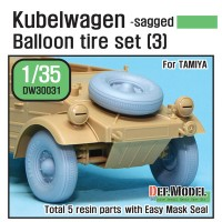 DW30032 WW2 German Schwimmwagen Wide Wheel set 2 - DEKA (for Tamiya 1/35)
