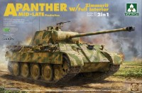 2100 1/35 WWII German medium Tank Sd.Kfz.171/267 Panther A Mid/late production w/ Zimmerit/ full interior