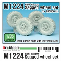 DW35106 M1224 MRAP M-pro Sagged Wheel set (for Bronco 1/35)