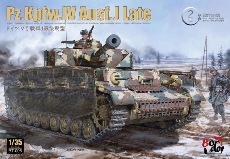 BT-008 1/35 Pz.Kpfw.IV Ausf.J Late w/Workable Track Links (Мет.ствол+фигурка смола)