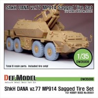 DW35006 Sz77 DANA ShKH MP914 Sagged Tire set (for Hobbyboss 1/35)