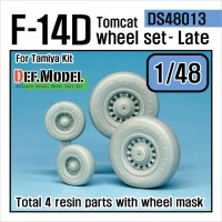 DS48013 1/48 F-14D Tomcat late type wheel set