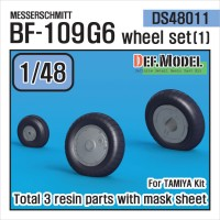 DS48011 - 1/48 Messerschmitt Bf-109G6 Wheel set (1) (Tamiya)