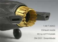 DM 2031  1/48 Lockheed F-35 A/C Lightning II - PE Exhaust Nozzle For Kittyhawk